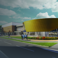 Constructions underway for a brand new state of the art community leisure centre in Camberley, Surrey following the grant of planning permission